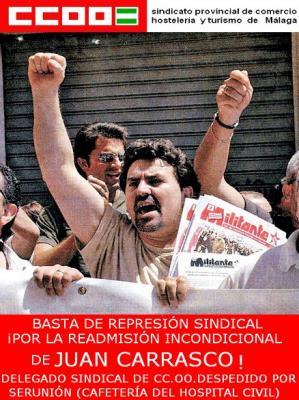 Despedido por represión sindical: Entrevista a Juan Carrasco (delegado sindical CCOO Serunion)