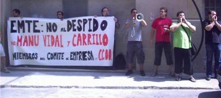 EMTE: no al despido de Manu Vidal y Juanma Carrillo, miembros del Comité de Empresa