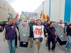 Els treballadors d'EMS es concentraran a les portes de Zara a Barcelona
